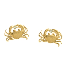 Beyond the Sea crab earrings in gold