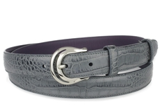 Mock croc tail belt