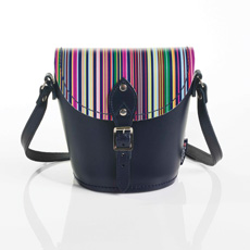 Oxford Stripe micro barrel bag