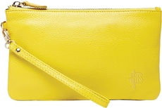Wristlet in squeaky yellow