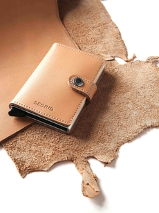 Recycled leather mini wallet