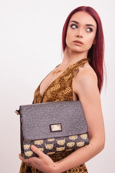 Leopard shoulder handbag