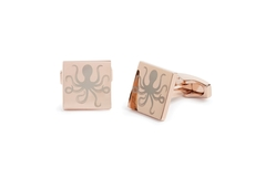 Under the Sea rose gold octopus cufflinks