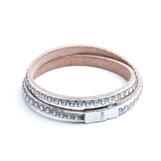 Swarovski crystal and Italian leather bracelet