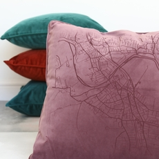Plush velvet cushions from Betsy Benn