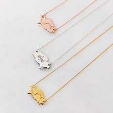 Charlotte's Web Jewellery Ibiza map necklace