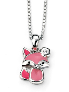Pink Fox necklace