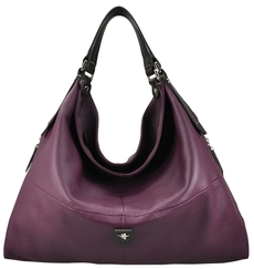 Slouch bag in aubergine