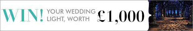 Win your wedding light, worth £1,000