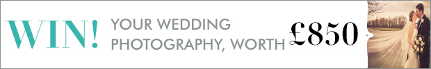 Win your wedding photography, worth £850