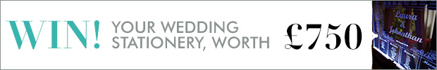 Win your wedding stationery, worth £750