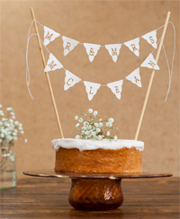 Win a bunting cake topper