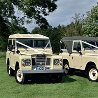 Win Land Rover wedding hire