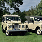 Win Land Rover wedding hire