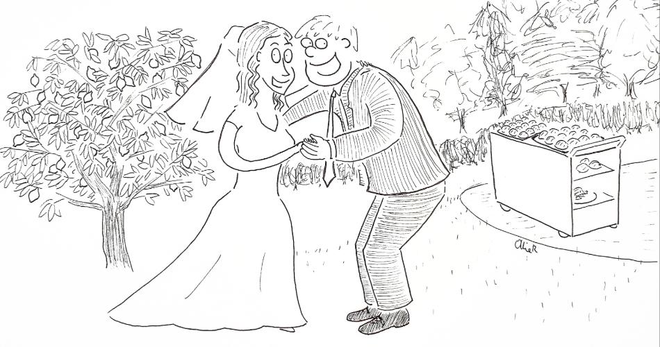 Image 1: Ollie Randall, Wedding Cartoonist