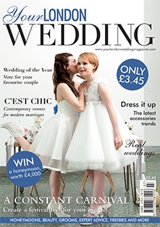 Front cover of Your London Wedding magazine - issue 42