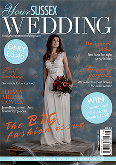 Front cover of Your Sussex Wedding magazine - issue 56