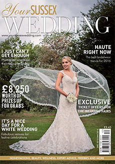 Front cover of Your Sussex Wedding magazine - issue 58