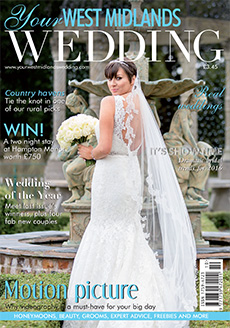 Front cover of Your West Midlands Wedding magazine - issue 40