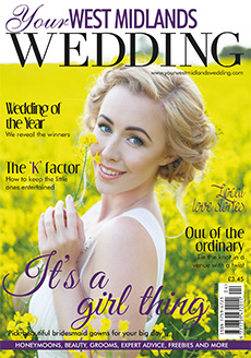Front cover of Your West Midlands Wedding magazine - issue 43