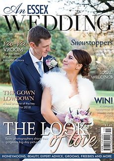 Front cover of An Essex Wedding magazine - issue 77