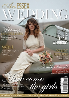 Front cover of An Essex Wedding magazine - issue 79
