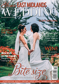Front cover of Your East Midlands Wedding magazine - issue 22