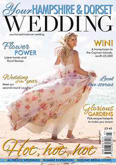 Front cover of Your Hampshire and Dorset Wedding magazine - issue 63