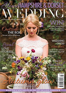 Front cover of Your Hampshire and Dorset Wedding magazine - issue 64