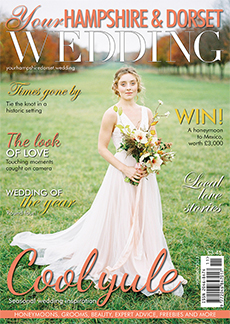 Front cover of Your Hampshire and Dorset Wedding magazine - issue 65