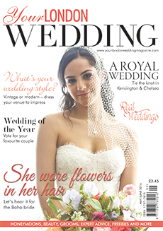 Front cover of Your London Wedding magazine - issue 47