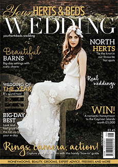 Front cover of Your Herts and Beds Wedding magazine - issue 63