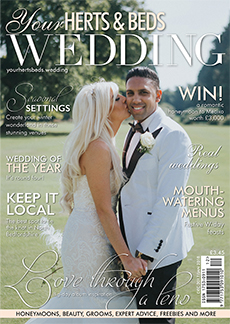 Front cover of Your Herts and Beds Wedding magazine - issue 65