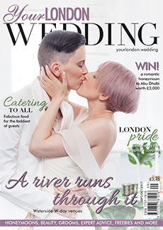 Front cover of Your London Wedding magazine - issue 55