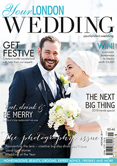 Front cover of Your London Wedding magazine - issue 56