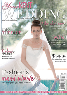 Front cover of Your Kent Wedding magazine - issue 74