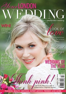 Front cover of Your London Wedding magazine - issue 58