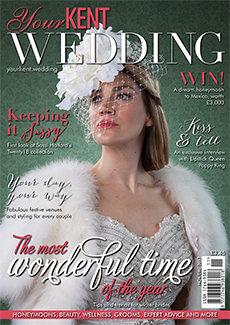 Front cover of Your Kent Wedding magazine - issue 75