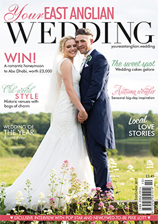 Front cover of Your East Anglian Wedding magazine - issue 27