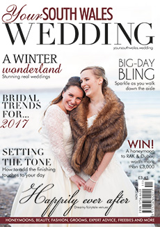 Front cover of Your South Wales Wedding magazine - issue 52
