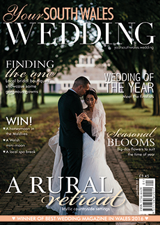 Front cover of Your South Wales Wedding magazine - issue 53