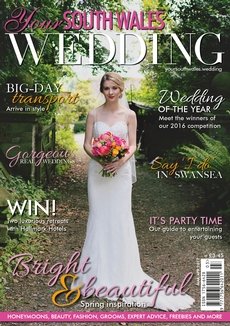 Front cover of Your South Wales Wedding magazine - issue 54