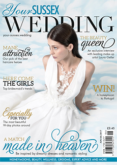 Front cover of Your Sussex Wedding magazine - issue 67