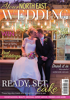 Front cover of Your North East Wedding magazine - issue 20