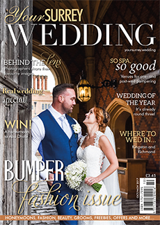 Front cover of Your Surrey Wedding magazine - issue 67