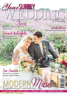 Front cover of Your Surrey Wedding magazine - issue 68