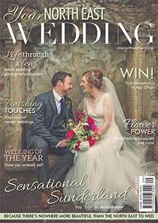 Front cover of Your North East Wedding magazine - issue 22