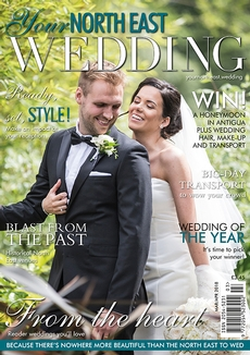 Front cover of Your North East Wedding magazine - issue 25
