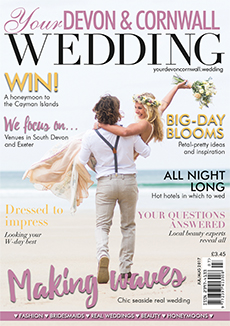 Front cover of Your Devon and Cornwall Wedding magazine - issue 8