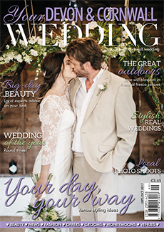 Front cover of Your Devon and Cornwall Wedding magazine - issue 9